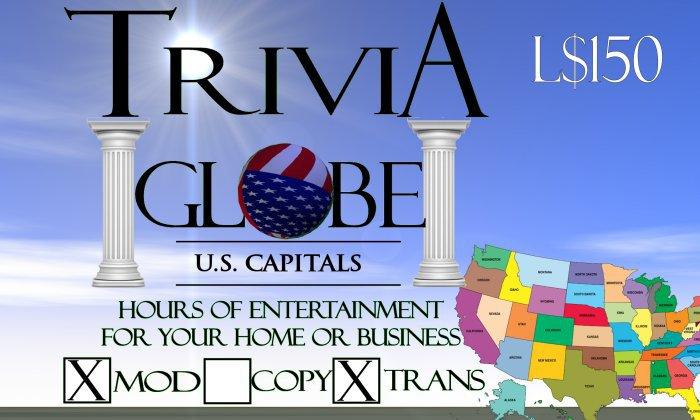US Capitals Trivia Globe