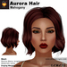 A&A Aurora Hair Mahogany, wavy elegant mesh bob style, low display weight, materials textures, promo color