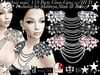 baii maii 119 Party Glam Gem's. w/HUD Dress Mesh Top Necklace Maitreya,Slink,Belleza