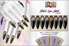 [ S H O C K ] Black Love Nails - LUXURY SERIES (Belleza, Maitreya, Slink, TMP and Regular Sizes)