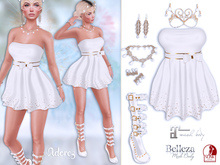 AdoreZ-Cindy White Outfit