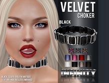 !NFINITY Velvet Choker - Black (wear to unpack) BN17-January