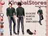 KS OUTFIT MARCUS JEANS&SHIRT GREEN