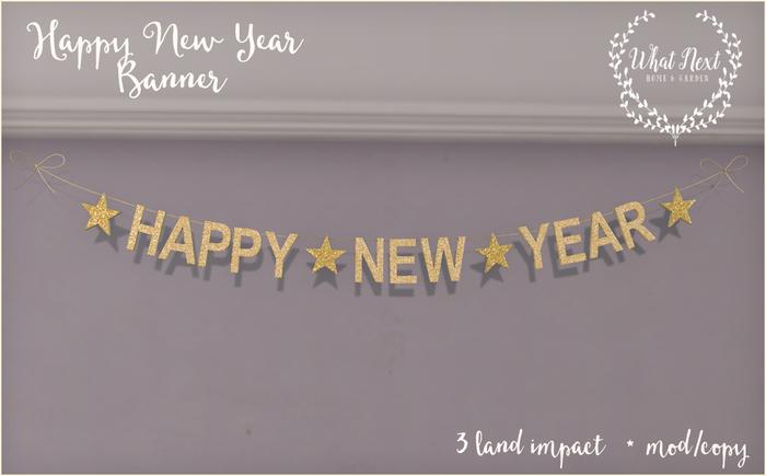 {what next} Happy New Year Banner - Dollarbie