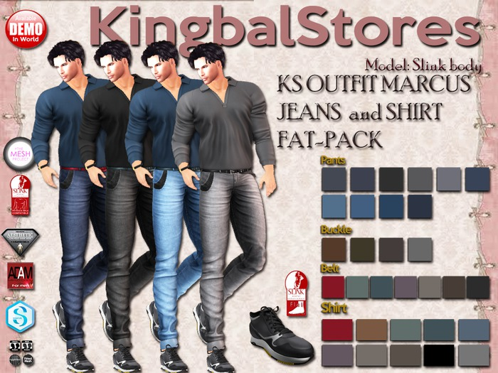 KS OUTFIT MARCUS JEANS&SHIRT FAT-PACK