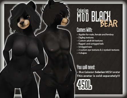 ::Static:: Solarian Black Bear