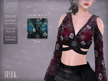 ".:SF:. ""Irisa"" Top - Teal"