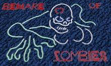 Beware of Zombie Neon Sign