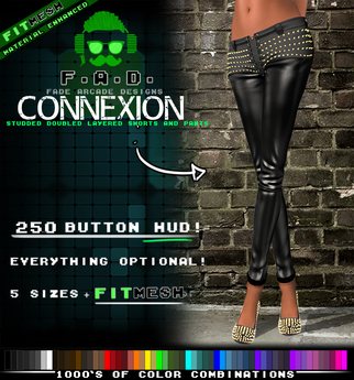 F.A.D. // Connexion Studded Leather Pants / Shorts - FitMesh/Materials