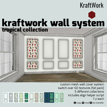 KraftWork Wall System - Tropical Collection