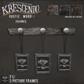 [Kres] Rustic Wood Frames - Chestnut