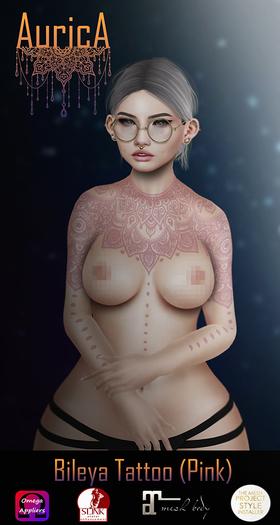 .:AS:. Bileya Tattoo (Pink) (Free Gift)