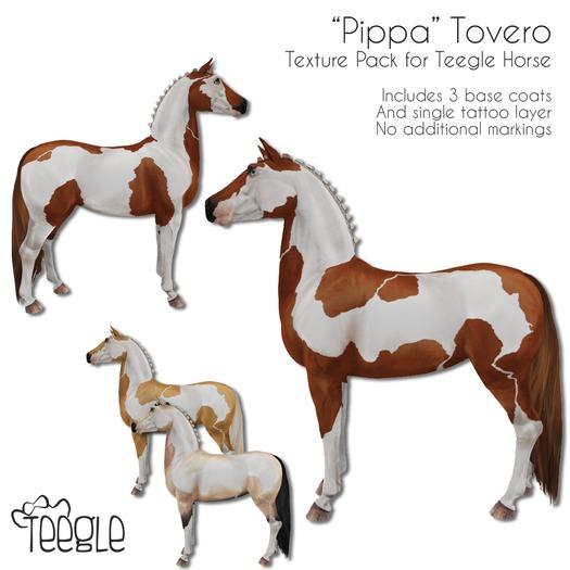 """[Teegle] """"Pippa"""" Tovero Skin for Teegle Horse"""