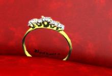 *14K diamond ring for tiny/petite/faire