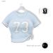 Gawk! BabyBlue Baseball Shirt (Mesh) - Standard Sizes   Works well with Maitreya Mesh Body