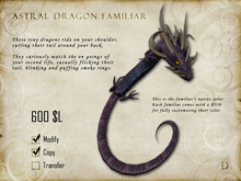 Astral Dragon Familiar - Shoulder Pet