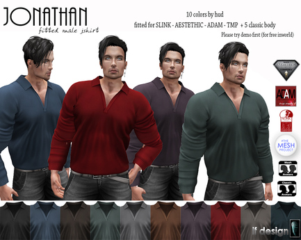 [lf design] jonathan classic male shirt
