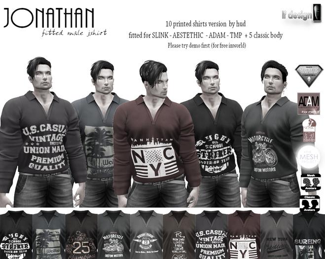 [lf design] jonathan PRINTED male shirt Demo
