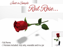 *ALUORA* - Just a Simple Red Rose - Full Perms