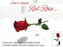 *ALUORA* - Just a Simple Red Rose - Gift