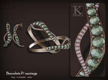 (Kunglers) Efigenia bracelets & earrings - Turmaline