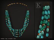 (Kunglers) Vatusi necklace - turquoise