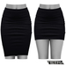 TETRA - Pencil Skirt (Black)