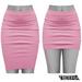 TETRA - Pencil Skirt (Pink)