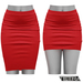 TETRA - Pencil Skirt (Red)