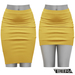 TETRA - Pencil Skirt (Yellow)