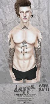 DAPPA - Creed Tattoo. Free Gift.