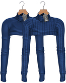"""JF Design""""Mia""""[Maitreya/Belleza]Cropped/Knitted Top-Navy Blue"""
