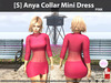 [S] Anya Collar Mini Dress Pink