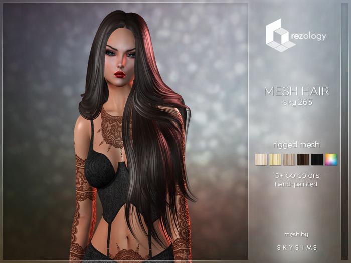 rezology Sky 263 (Bento RIGGED mesh hair) SK - 2582 complexity