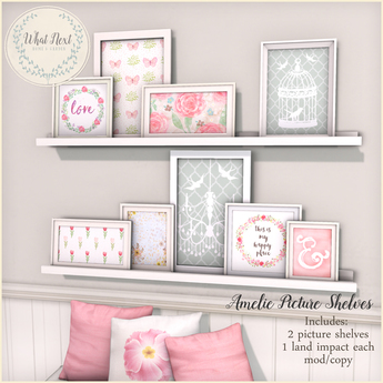 {what next} 'Amelie' Picture Shelves