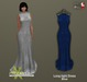 PRECAST Inc. - Long tight Dress - blue