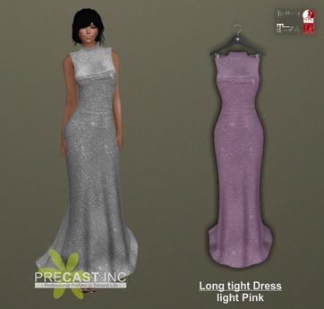PRECAST Inc. - Long tight Dress - light pink