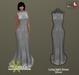 PRECAST Inc. - Long tight Dress - silver