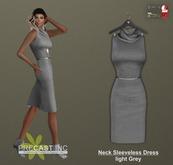 PRECAST Inc. - Neck Sleeveless Dress - light grey