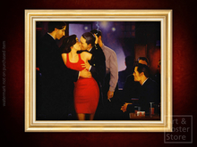 WILD THING Jack Vettriano EROTIC PAINTING | Gold Fluted Frame