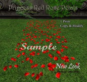 Princess Red Rose Petals - Aisle Runner - Modify and Copy