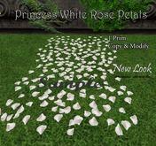 Princess White Rose Petals - Aisle Runner - Modify and Copy