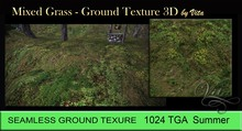Vita's Textures - MIXED GRASS 3D Seamless 1024  2017