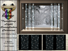 [PR ] Twinkling Light Snowflakes Curtains (Boxed)