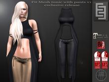 Elven Elder Fit Mesh tunic with pants v1 with HUD Maitreya Slink EVE
