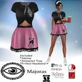 Majoras Pink Car Hop Outfit