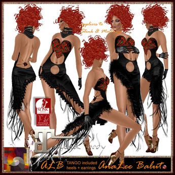 ALB TANGO dress + heels  + earrings AnaLee Balut - LAMU GROUP