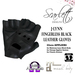 J lynn fingerless black leather gloves