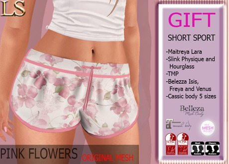 SHORT PINK FLOWERS LS GIFT