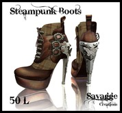 ::SC:: Steampunk Boots in Brown